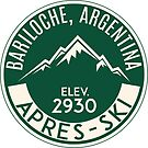 SKIING BARILOCHE ARGENTINA APRES SKI MOUNTAINS PARTY by MyHandmadeSigns