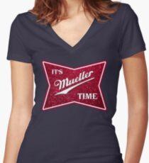 Müller-Zeit - Glitter Shirt mit V-Ausschnitt