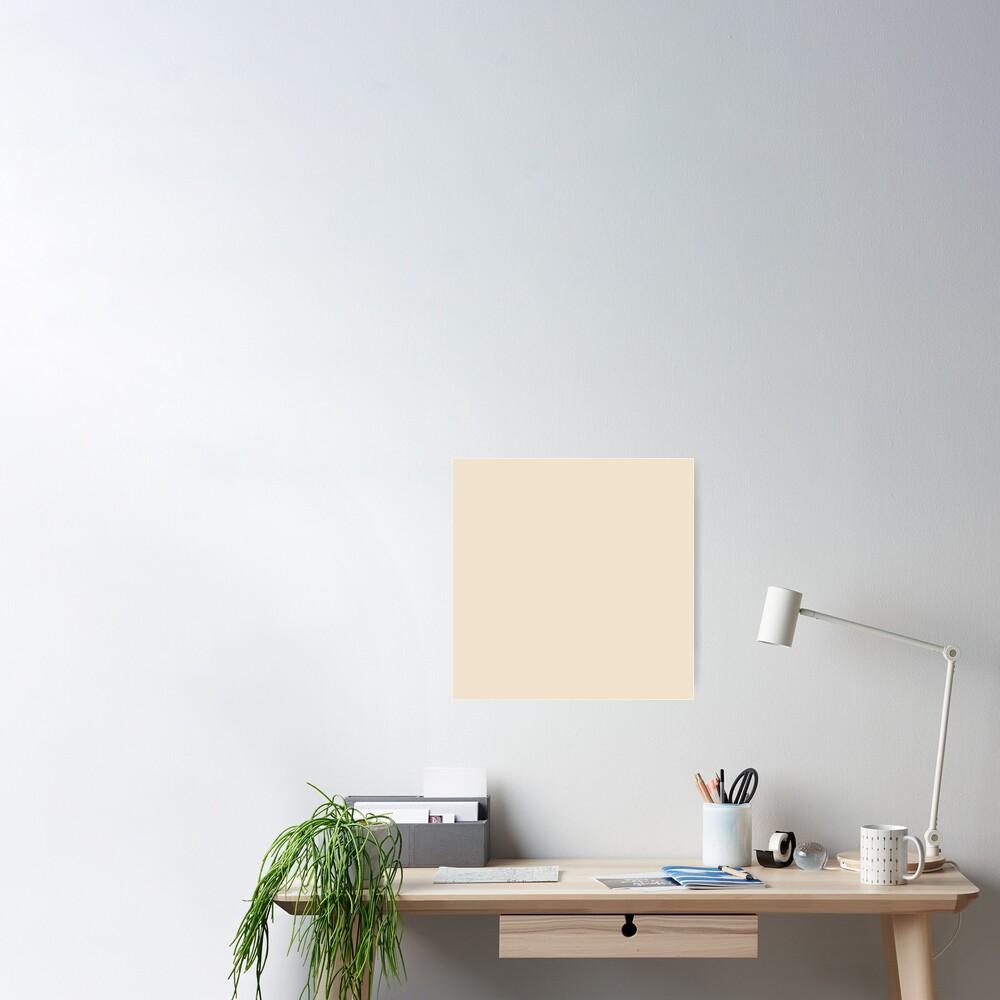 Couleur Pantone De L Année 2017 crème au beurre / amande / beige solide couleur pantone de l'année 2017 |  poster