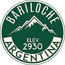 SKIING BARILOCHE ARGENTINA APRES SKI MOUNTAINS by MyHandmadeSigns