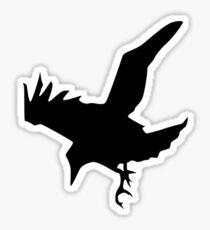 RAVEN, CROW, Corvus, Bird, Swoop Sticker
