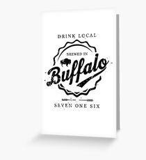 Brewed In Buffalo Bottle Cap Greeting Card