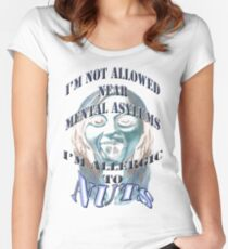 nut allergy Women's Fitted Scoop T-Shirt