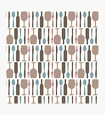 Cutlery pattern Photographic Print