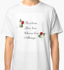 Harry Styles Give Love Speech Art Classic T-Shirt