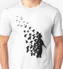 Banksy Vögel Slim Fit T-Shirt
