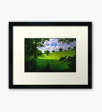Green Trees Nature Framed Print