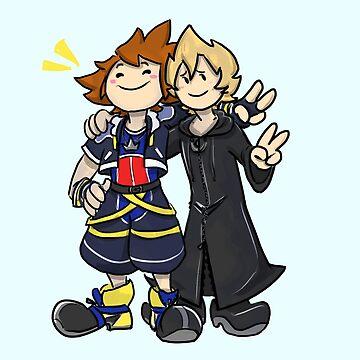 Sora and Roxas by mega-megantron