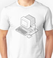 Apple //c setup with a mouse and CRT monitor. T-Shirt