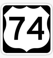 U.S. Route 74 Sticker