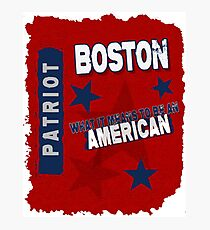 Boston Patriot American Photographic Print