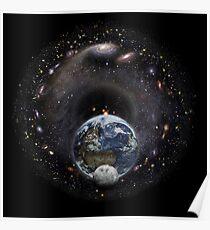 Universum und Erde Poster