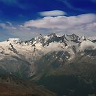 Saas Fee Mountains - Colour  by Adam Gregg