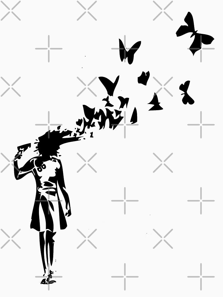 Banksy butterfly girl by belugastore