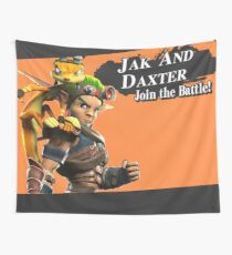 Jak and Daxter Join the Battle! | Super Smash Bros Splash Screen Wall Tapestry