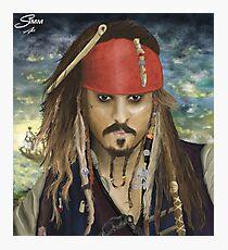 Captain Jack Sparrow Digital Painting Photographic Print