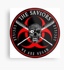 Biohazard The Saviors We Are Negan Ring Patch RL Metal Print