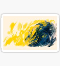 Abstract - Yellow & Blue Sticker