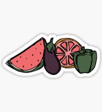 hippo campus inspired fruits Sticker