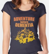 Adventure Before Dementia - Off Roading Design Women's Fitted Scoop T-Shirt