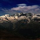 Mountains of Saas Fee - High Contrast by Adam Gregg