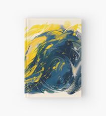 Abstract - Yellow & Blue Hardcover Journal