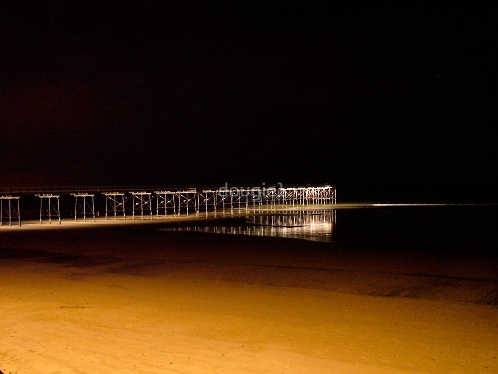 Saltburn Pier at night by dougie1