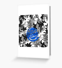 Camouflage Drift King blue Greeting Card
