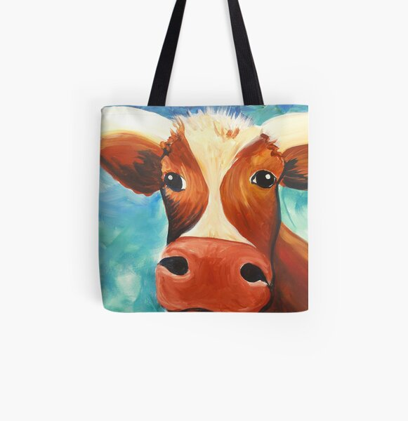 Texas Longhorn All Over Print Tote Bag