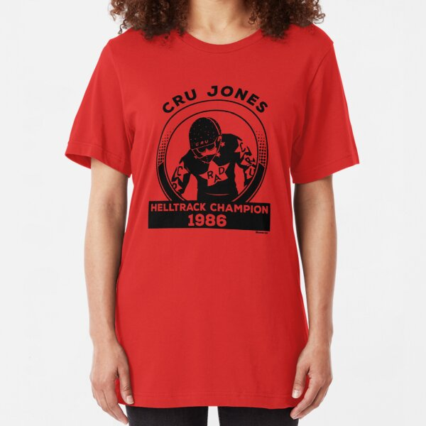 Cru Jones - Helltrack Champion 1986 Slim Fit T-Shirt