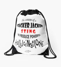 Tracker Jacker quote Drawstring Bag