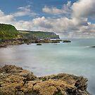 Nare head from Carne beach Roseland Cornwall by eddiej