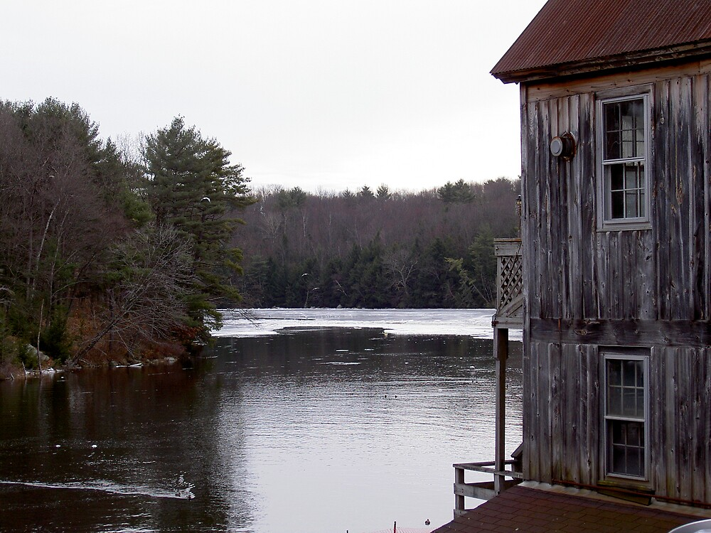 River in Maine by Kevin Evans