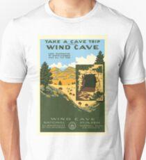 Vintage Travel Poster – Wind Cave National Park Unisex T-Shirt