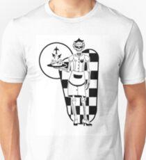 Retro Dinner Skeleton Waitress Unisex T-Shirt