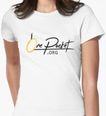OnePocket.org Logo on White Background Women's Fitted T-Shirt