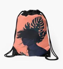 Windy day Drawstring Bag