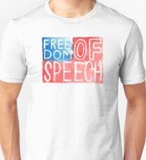 Freedom of Speech - Watercolor Flag Unisex T-Shirt