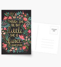 Little & Fierce on Charcoal Postcards