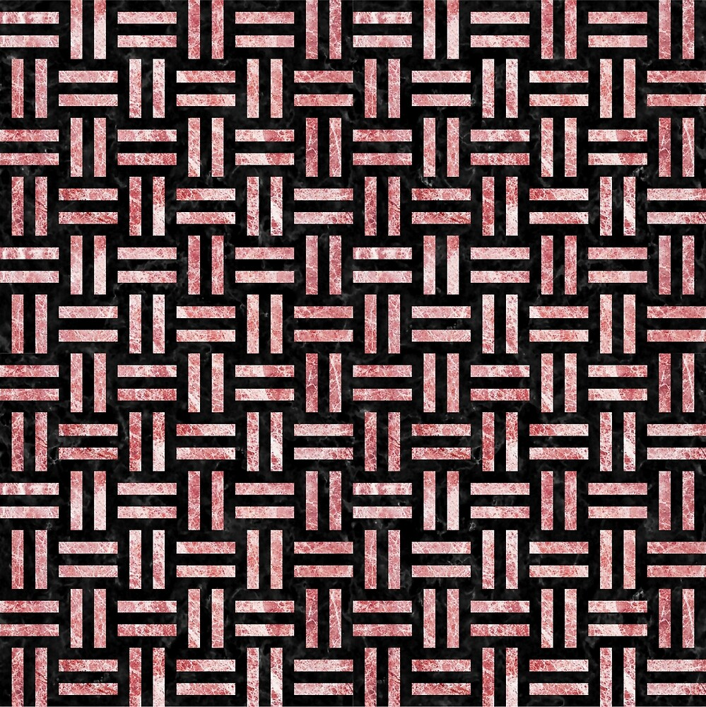 WOVEN1 BLACK MARBLE AND RED AND WHITE MARBLE by johnhunternance