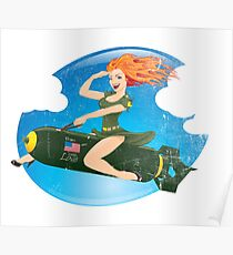 From The USA with Love Pinup Poster
