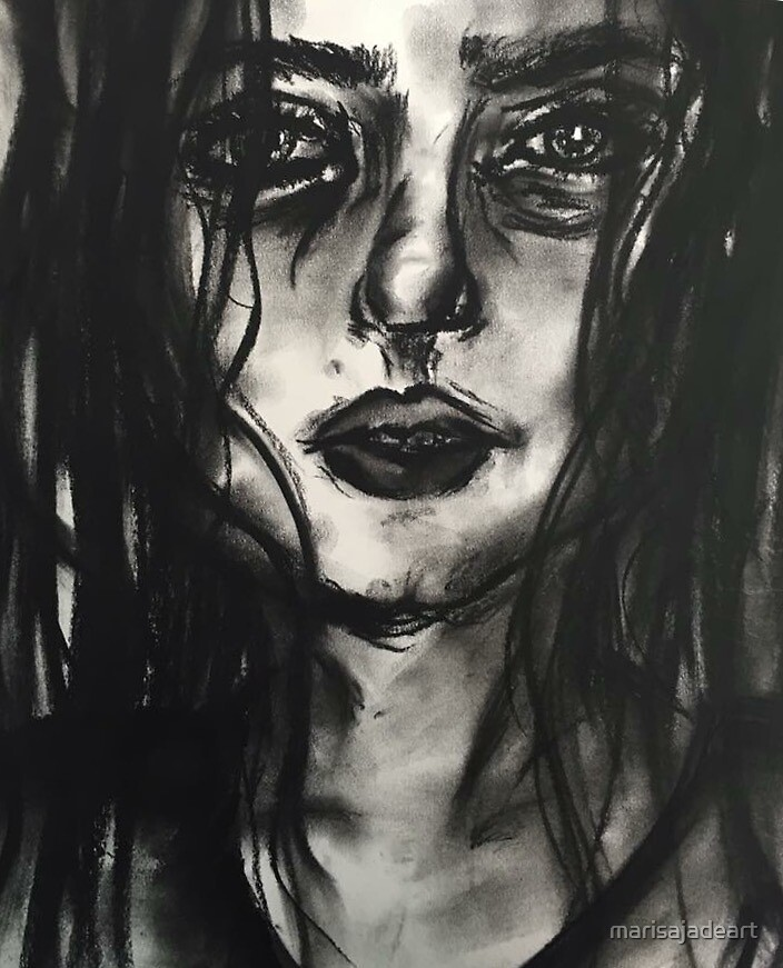 Charcoal Drawing by Marisa Thornton