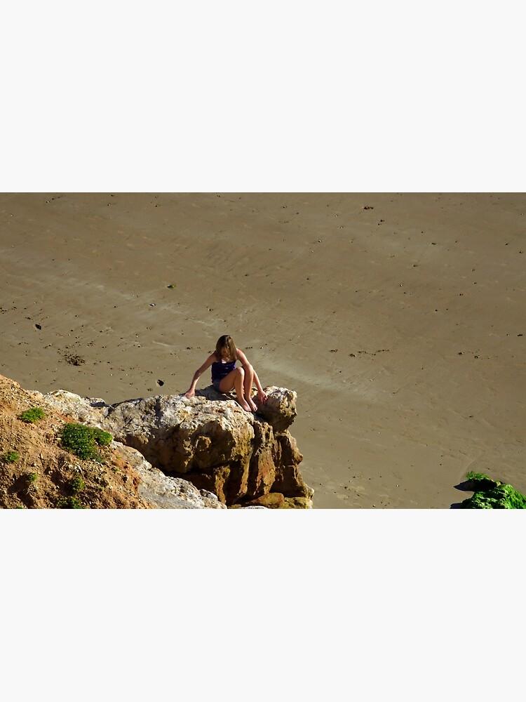 Girl On The Rocks, Compton Bay by RodJohnson