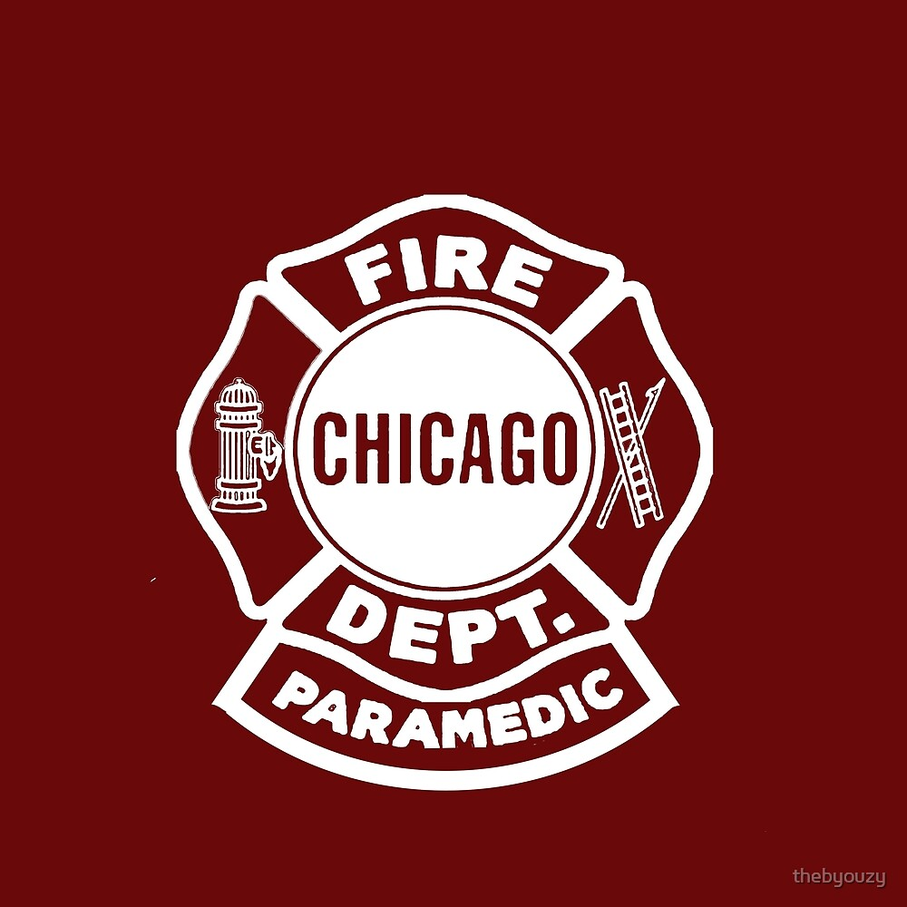 Chicago Fire Paramedic White Logo By Thebyouzy Redbubble