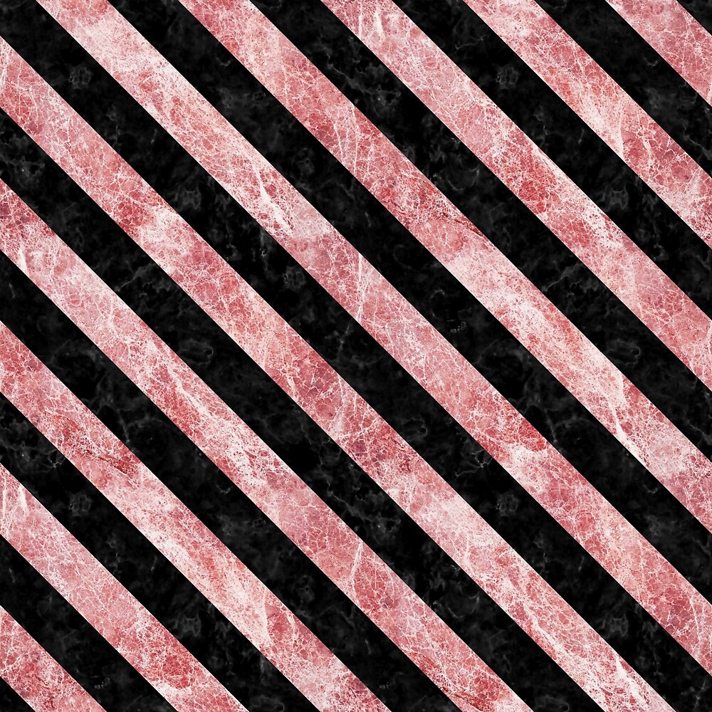 STRIPES3 BLACK MARBLE AND RED AND WHITE MARBLE (R) by johnhunternance