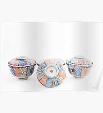 Japanese Lidded Bowls Poster