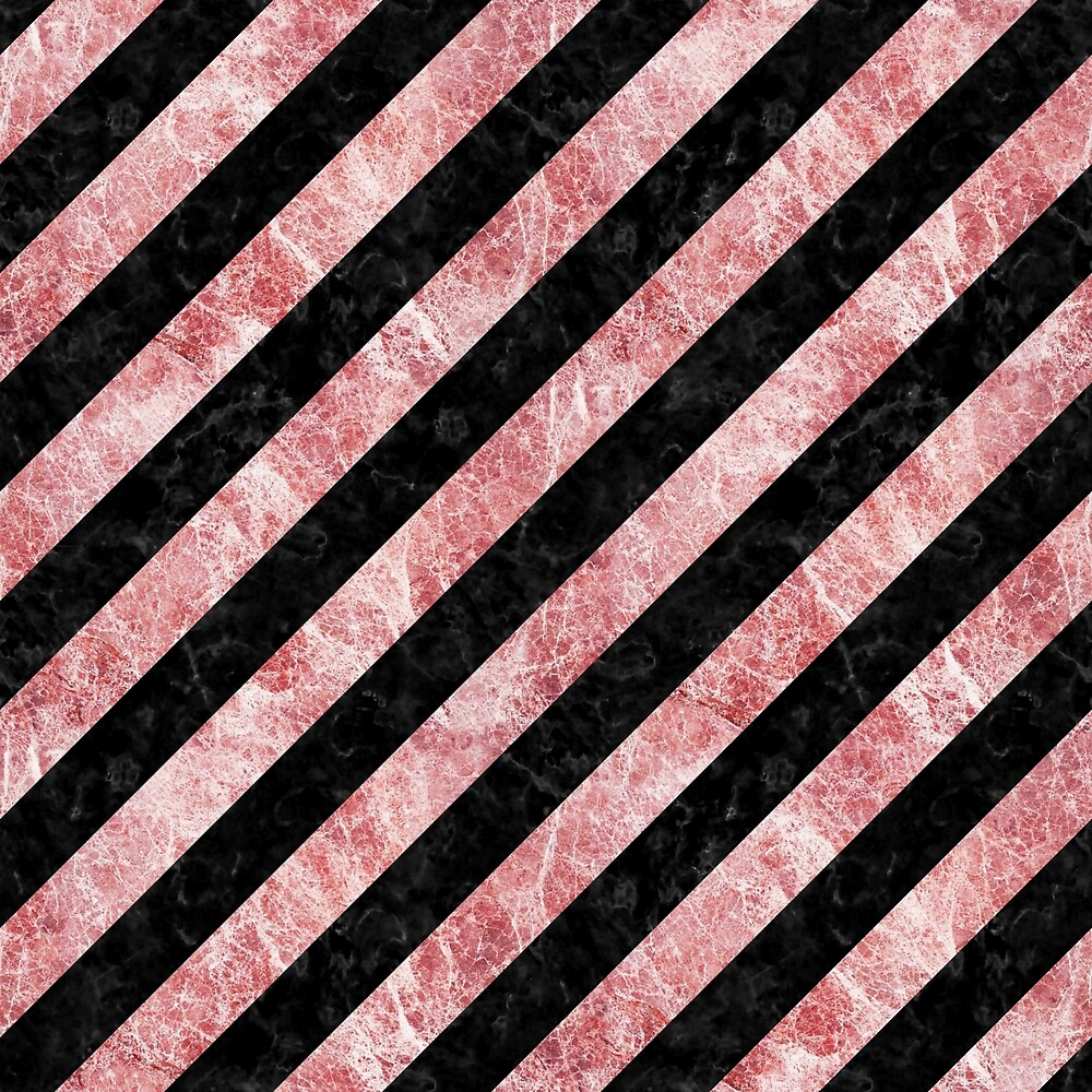 STRIPES3 BLACK MARBLE AND RED AND WHITE MARBLE by johnhunternance