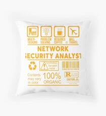 NETWORK SECURITY ANALYST - NICE DESIGN 2017 Throw Pillow