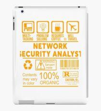 NETWORK SECURITY ANALYST - NICE DESIGN 2017 iPad Case/Skin