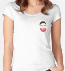 Zane Hijazi Pink Beard Women's Fitted Scoop T-Shirt